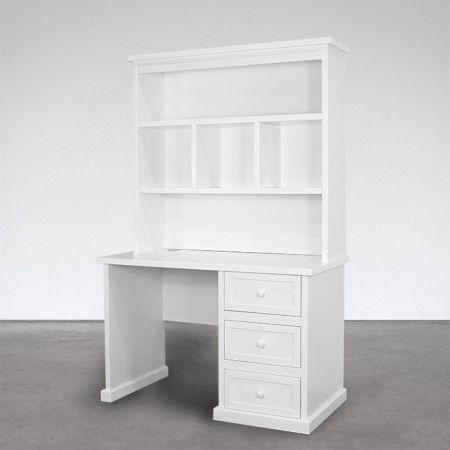 rainbow white desk and hutch space saving office ideas pinterest rh pinterest com