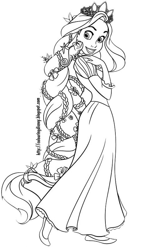 Des Coloriages Disney Gratuit Un Coloriage De Raiponce Wedding