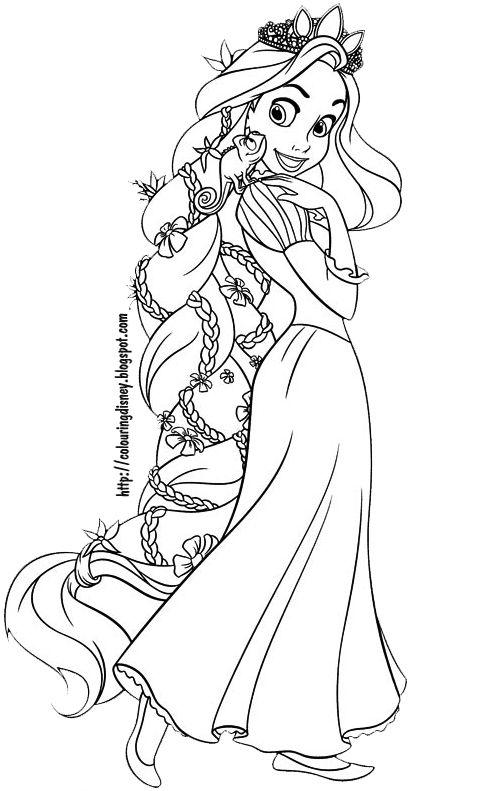 Coloring Picture Rapunzel
