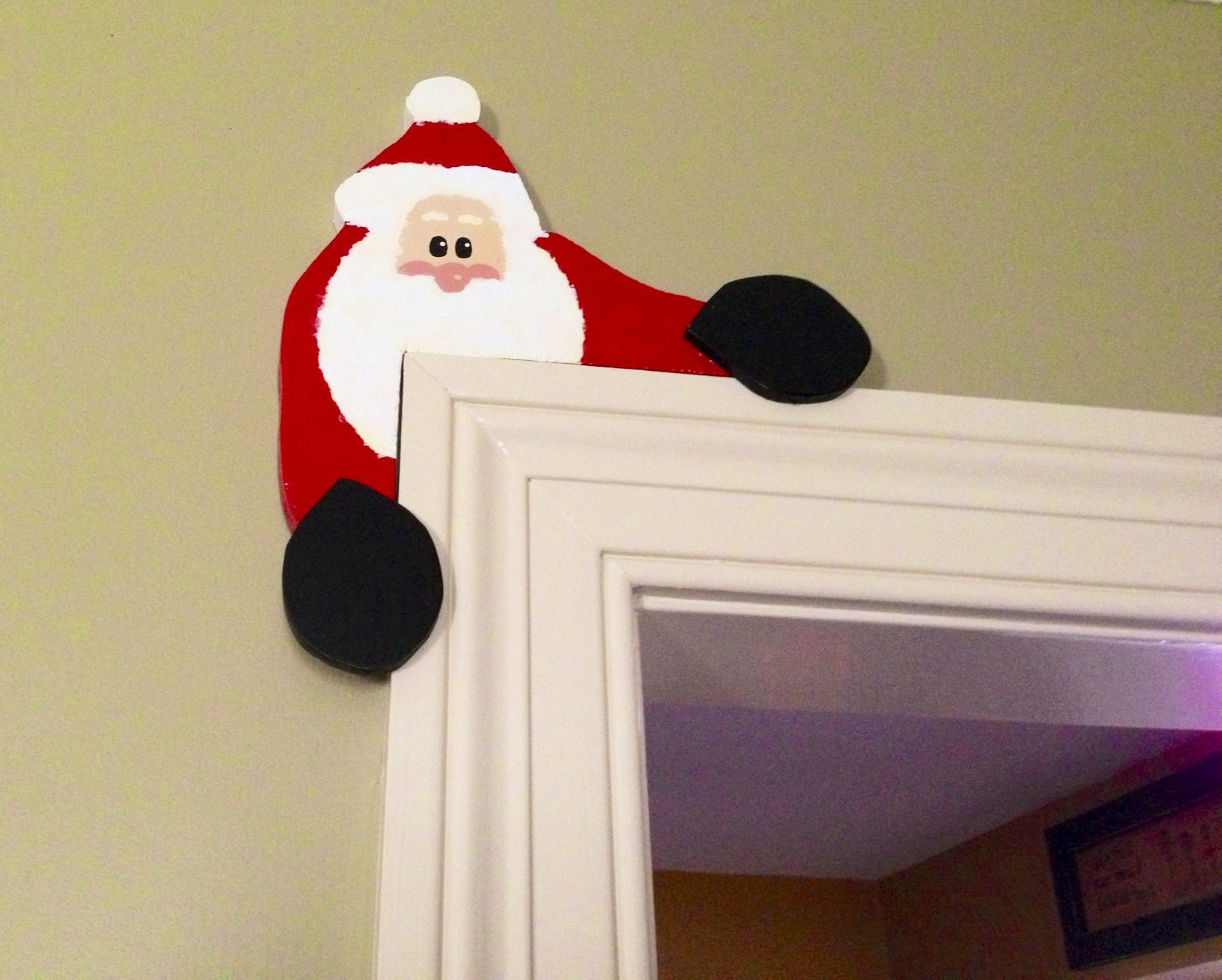 Santa Door Topper Made By Bill Linda Johnson Christmas Chair Covers Christmas Crafts Christmas Chair