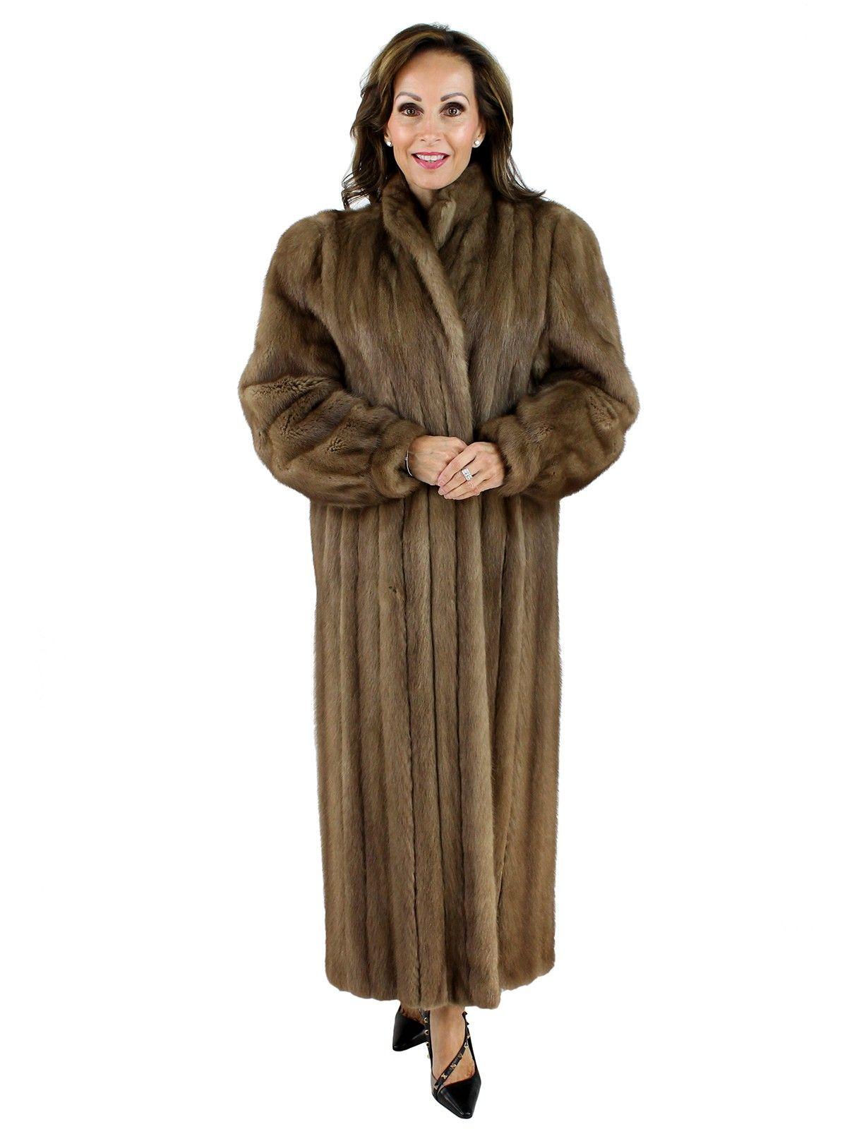 b792bfd09 Pecan Mink Fur Coat - Women's Large in 2019 | clothes | Fur coat ...