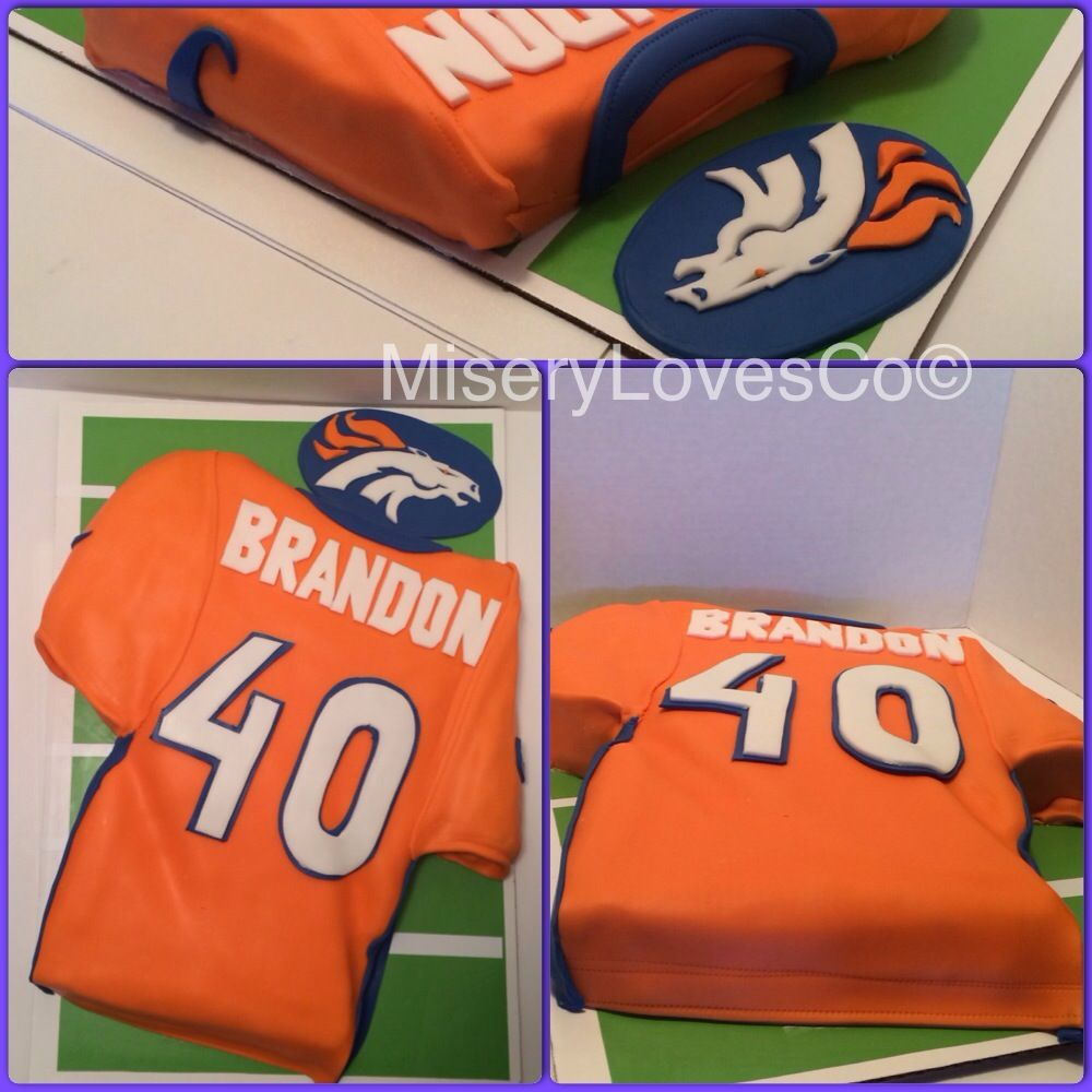 The denver broncos th bday cake all edible art more pics and