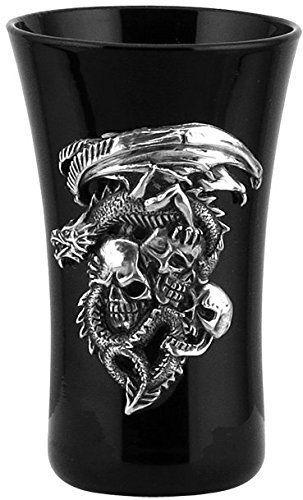 Time To Be A Dragon Black Shot Glass
