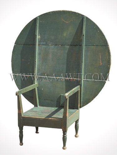 a large chair table old green paint new england early 19th rh pinterest com