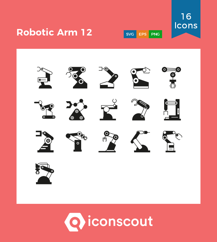 Download Robotic Arm 12 Icon Pack Available In Svg Png Eps Ai Icon Fonts Glyph Icon Technology Icon Icon Pack