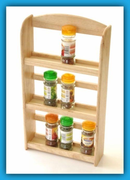 3 tier spice rack jar holder display shelf wall mount free stand rh pinterest com