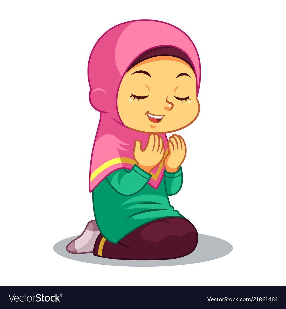 Praying Everyday After Salat Download A Free Preview Or High Quality Adobe Illustrator Ai Eps Pdf And High Resolution Jpeg Versions Kartun Animasi Gambar