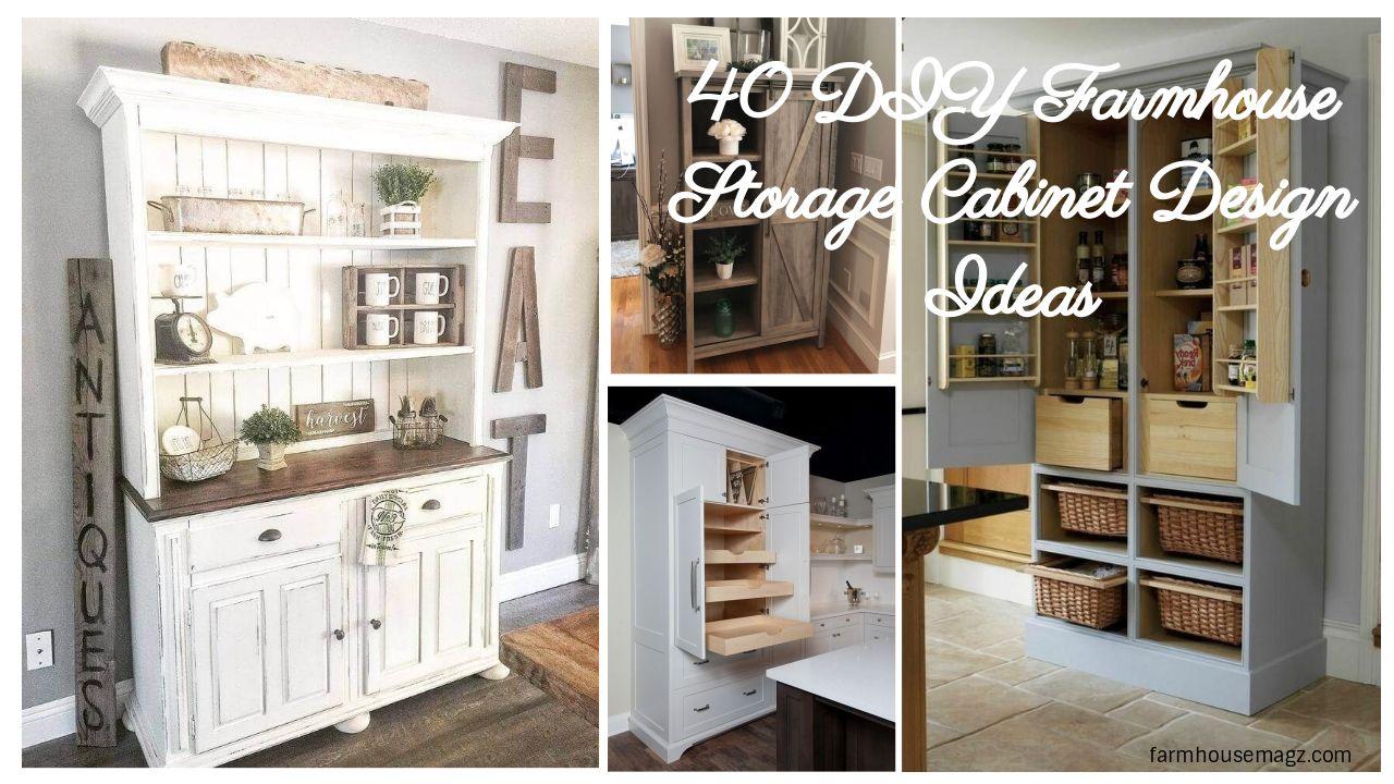 40 diy farmhouse storage cabinet design ideas furniture rh pinterest com
