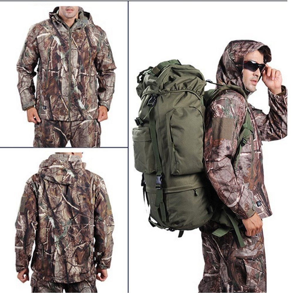 e2f01f4804311 Webetop Men Outdoor Shark Skin WaterProof Breathable Fleece Hooded Tactical  Softshell Military Jacket Coat For Spring: Amazon.co.uk: Sports & Outdoors