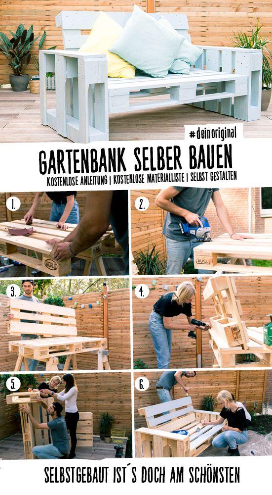 Gartenmöbel selber bauen lounge anleitung  Projekt: Couch Chillig 1er | Couch selber bauen, Palettencouch und ...