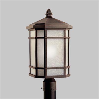 kichler lighting post mount light 9902pr cameron post light in 2019 rh pinterest com