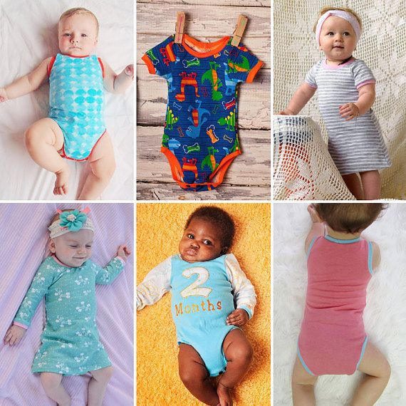 SUPER SUIT SET baby Short & Long Sleeve onesie, dress, top / shirt ...