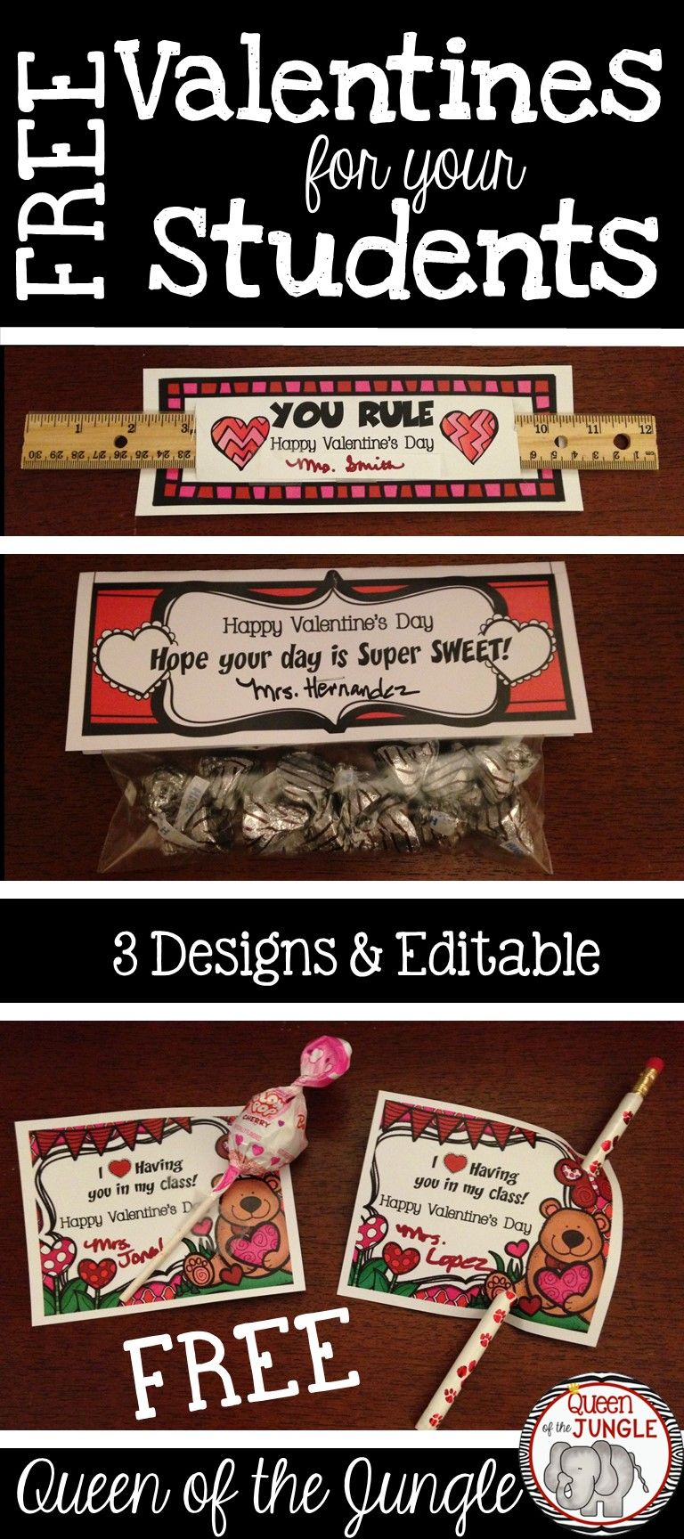 Students Will Love These! Valentines For Teachers To Give To Their Students.