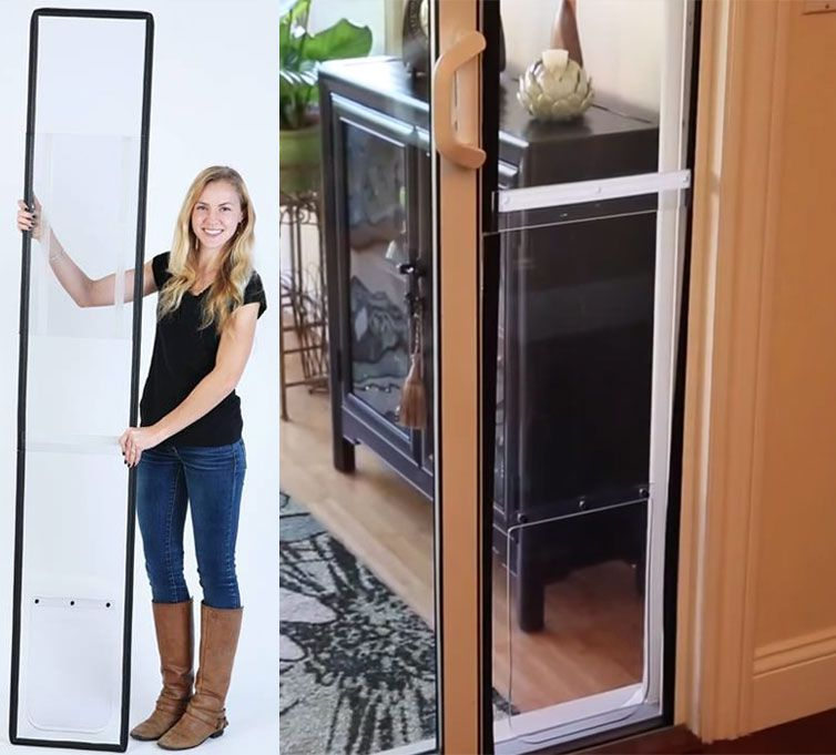 The apartment pet door is a doggie door that you can use in ...