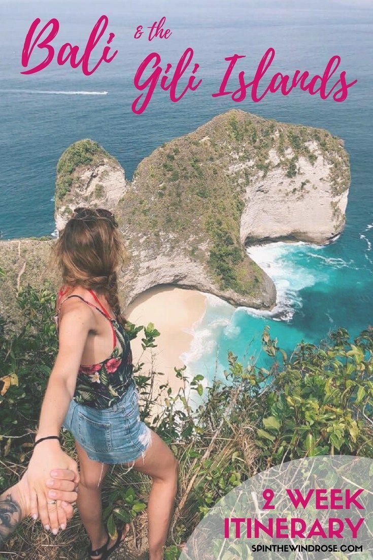 Bali & the Gili Islands: A 2 Week Itinerary - Here's how to make the most of a fortnight in these beautiful islands!   Travel | Indonesia | Bali | Nusa Lembongan | Nusa Penida | Ubud | Canggu | Seminyak | Kuta | Uluwatu | Amed | Tulamben | Gili Trawangan | Gili T | Gili Air | Gili Meno | Spin the Windrose