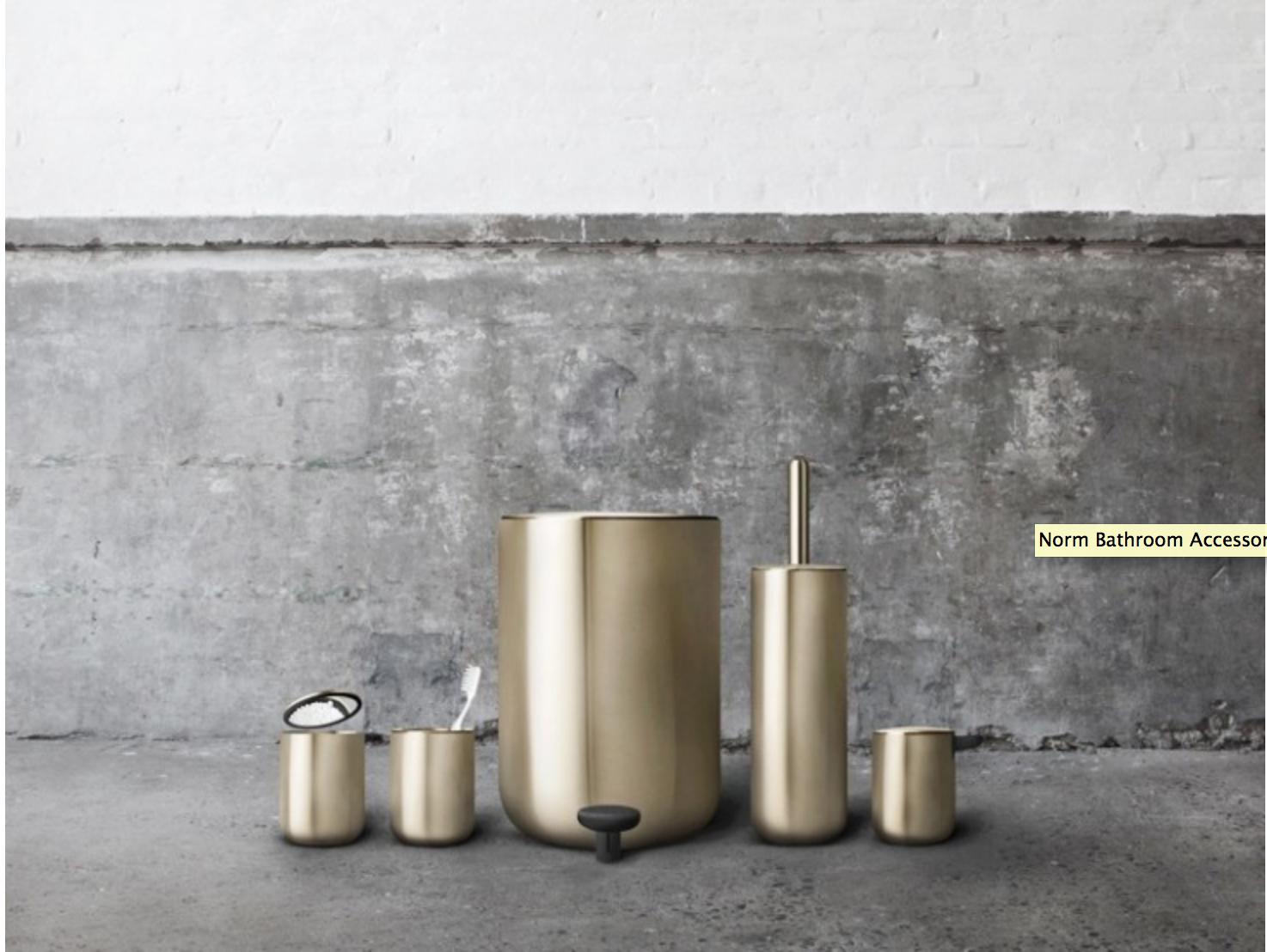 The Norm Bath Collection In Brushed Gold New From Jonas Bjerre Poulsen And Kasper Ronn Of Copenhagen Based Norm Arc Norm Architects Bathroom Tool Modern Baths
