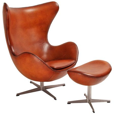 Egg Chair and its ottoman designed by Jacobsen, edited by Fritz Hansen in 1958 at 1stdibs ($1,958.00)