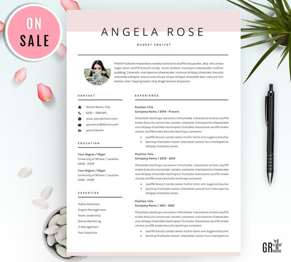Professional Resume/CV Template Resume Templates Pinterest Cv - bar resume examples