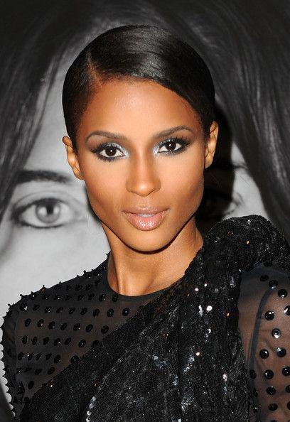 Shimmery silver smokey eye - wedding makeup for black/African ...