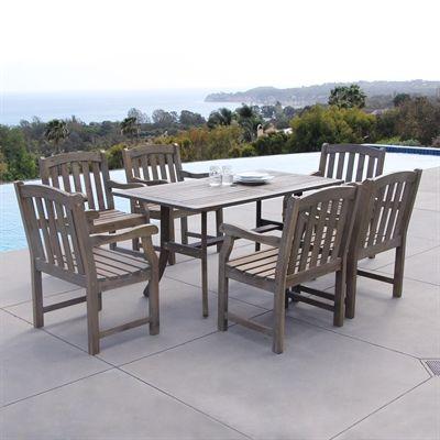 vifah v1300set7 7 piece atlantic outdoor dining set home decor sale rh pinterest co uk