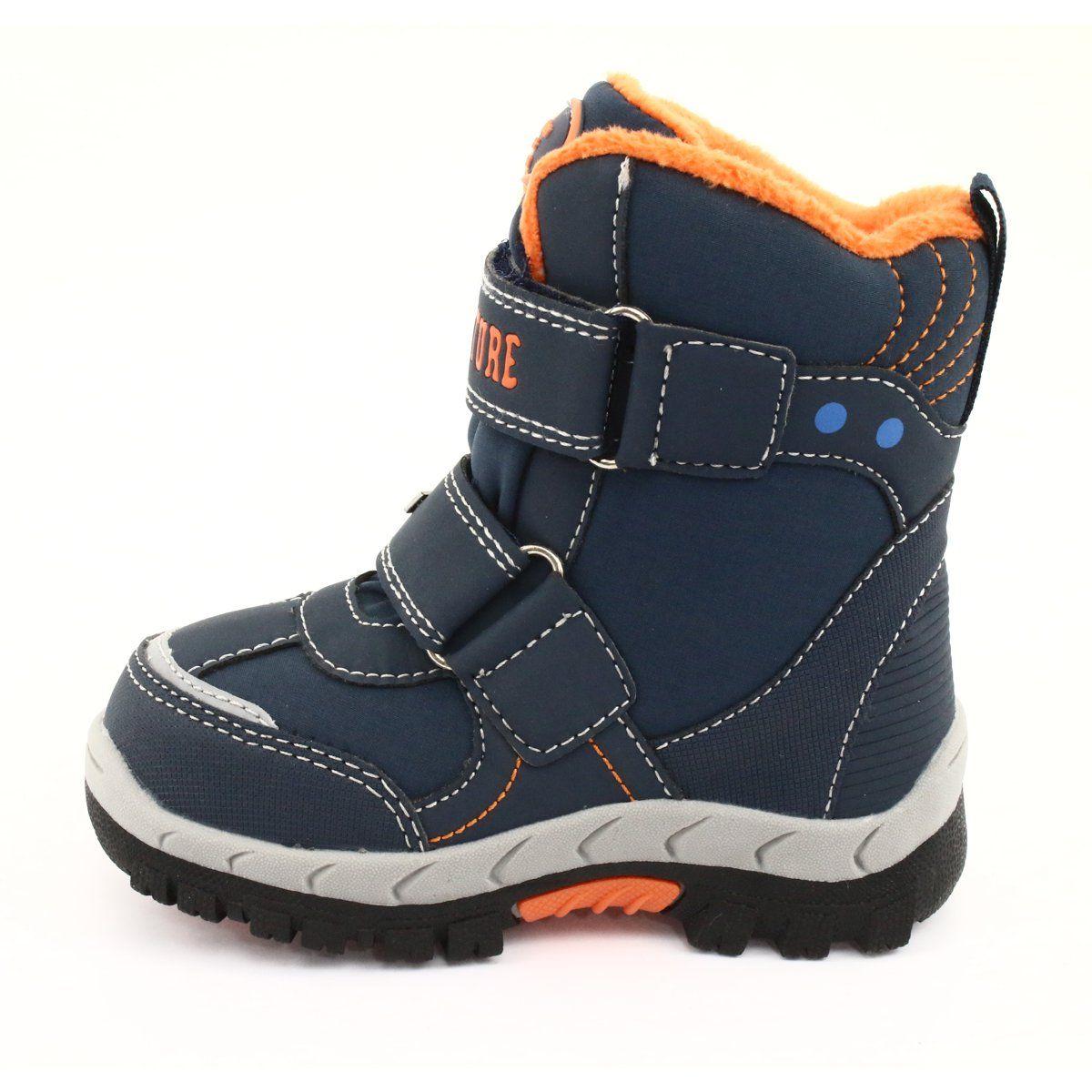 American Club American Kozaki Buty Z Membrana Rl35 Granatowe Pomaranczowe Boots Childrens Boots Childrens Shoes
