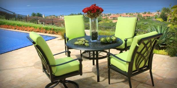 Need To Make These Green Cushions For My Patio Set Asap Metal Outdoor Furniture Contemporary Patio Furniture Outdoor Furniture