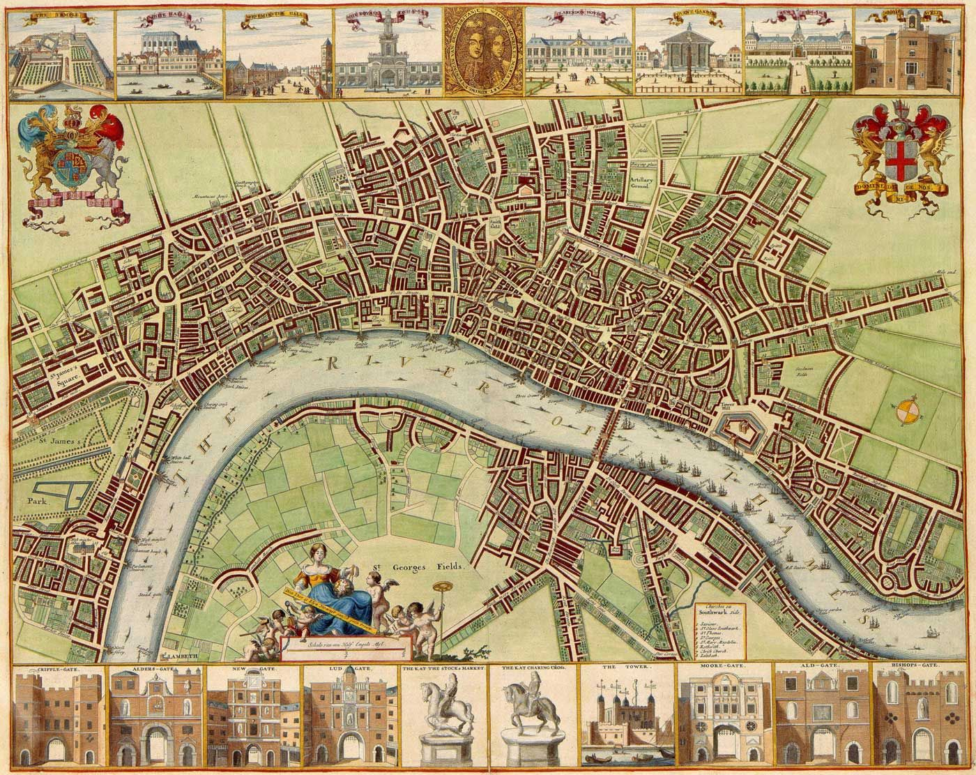 London Historical Map Mapsofnet Travelling Pinterest Britain - London map 1600