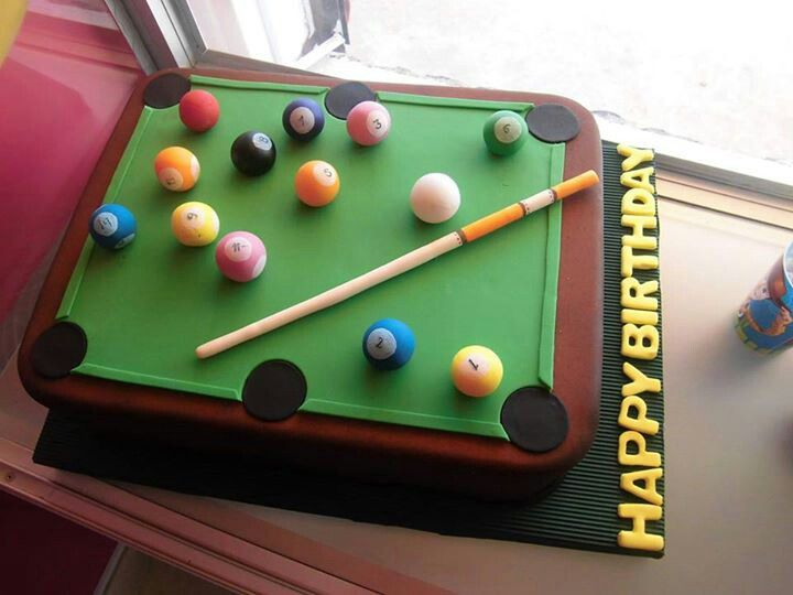 pool table cake i know french would love this my home in 2019 rh pinterest com