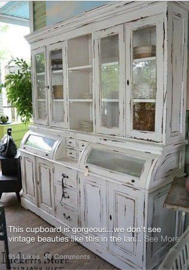 China hutch - vajillero cristalero - comedor | actualizar muebles ...
