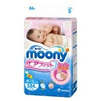 Moony Nappies 4-8kg (S) 84pc