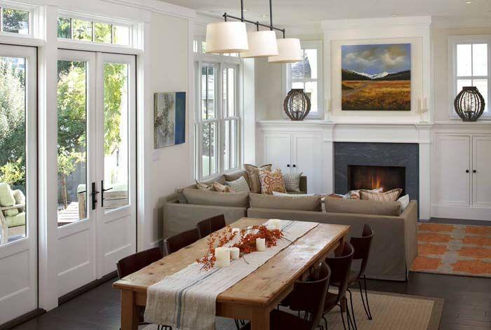 Kleines Wohnzimmer Einrichten Esstisch Essbereich Kamin