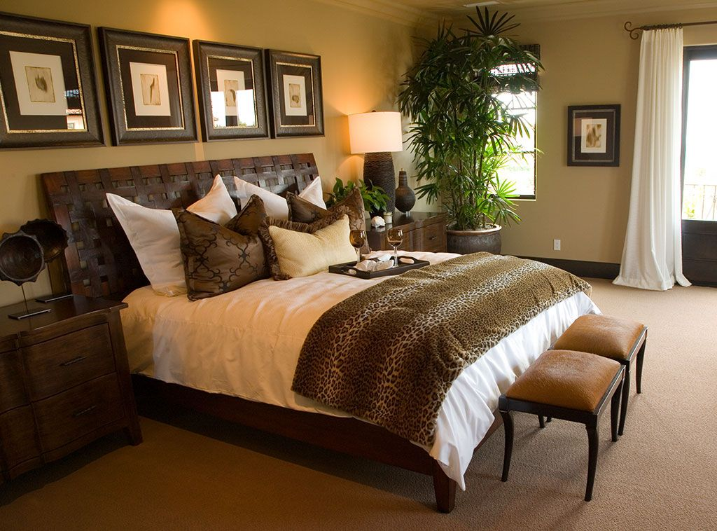 rich browns create a contemporary sleeping space that is on modern cozy bedroom decorating ideas id=46391