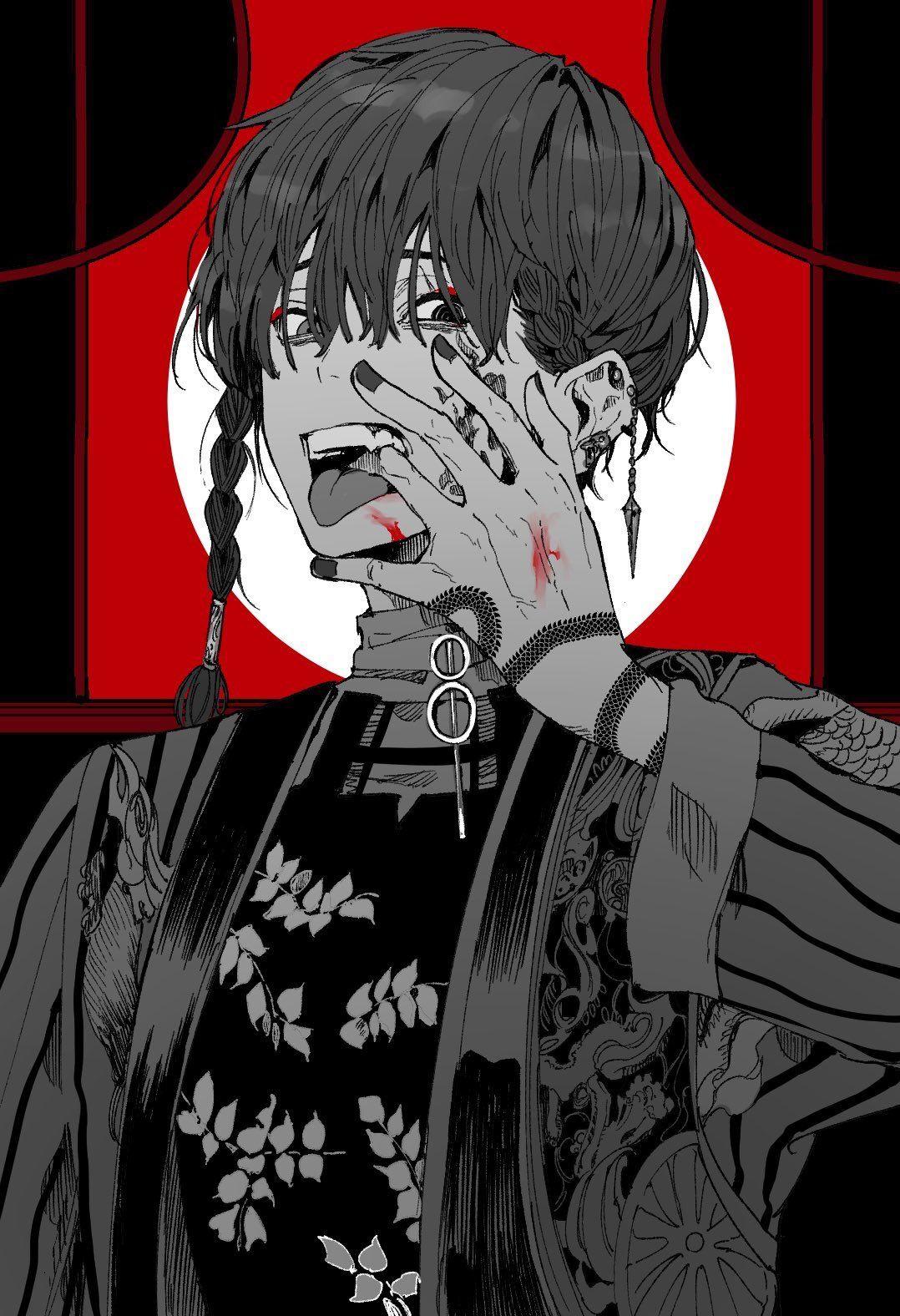 Dark Aesthetic Anime Boy Wallpaper
