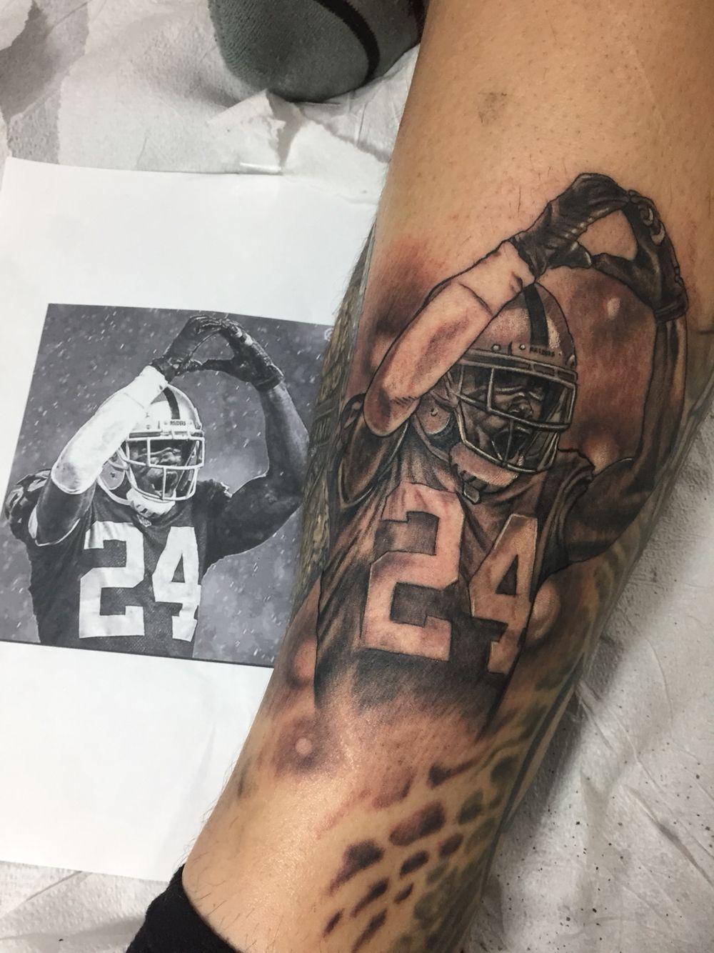 a91620f8d06a8 Raiders Charles Woodson tattoo greyscale | Charles woodson | Raiders ...