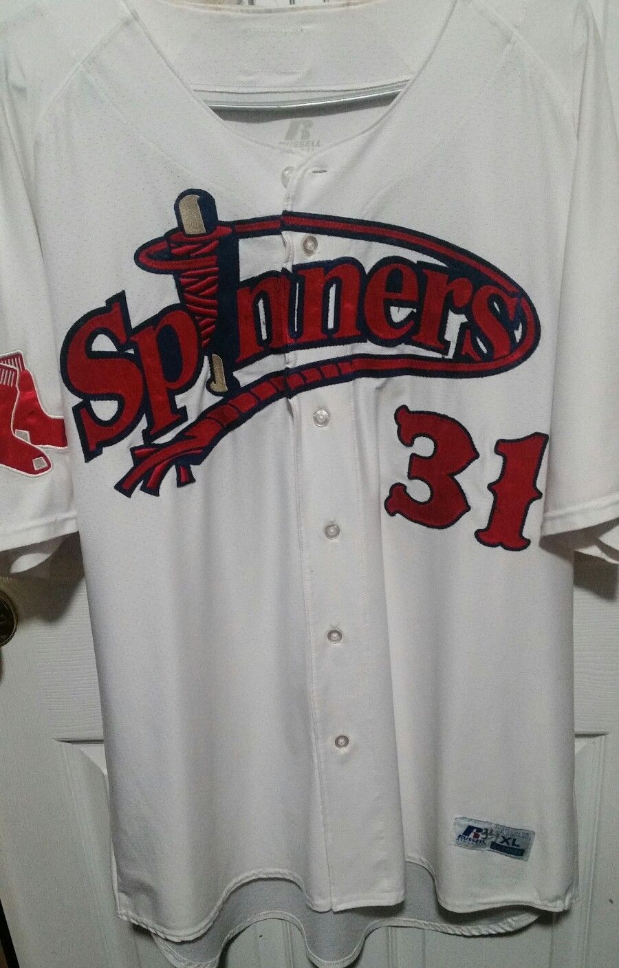 26a7048fc LOWELL SPINNERS RYAN SCOTT GAME USED JERSEY XL GREENVILLE DRIVE ...