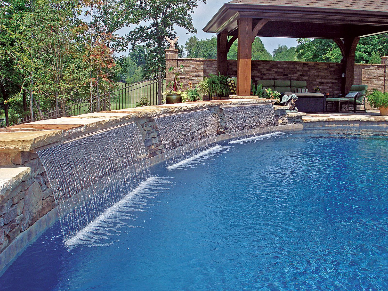 Cascade Waterfall Built By Blue Haven Pools Charlotte