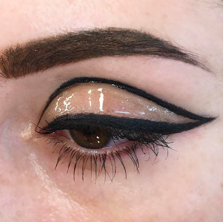 How To Pull Off The Glossy Eye Trend Without Looking Sweaty