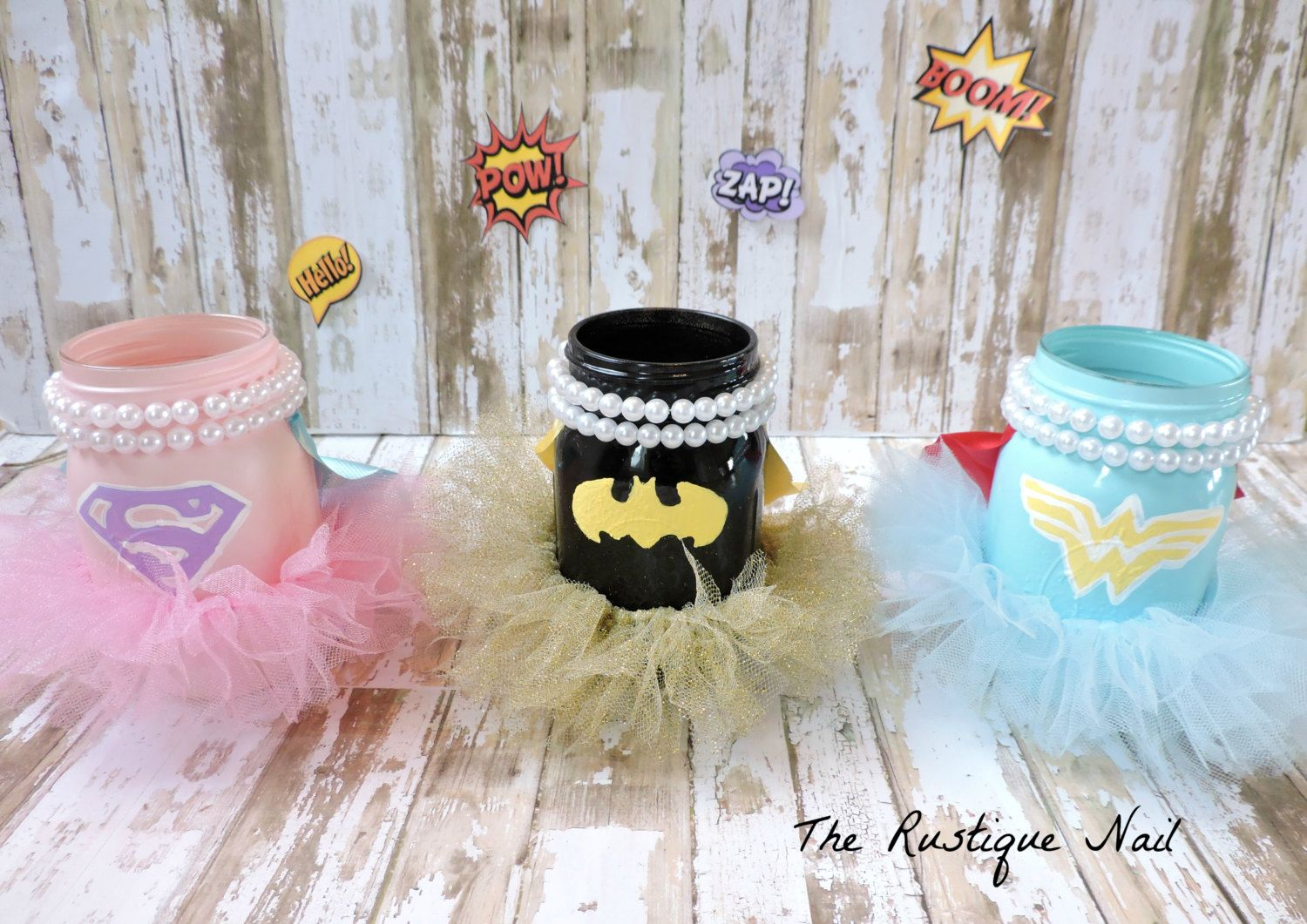 this listing includes 3 pint size centerpieces 1 superman super rh pinterest com