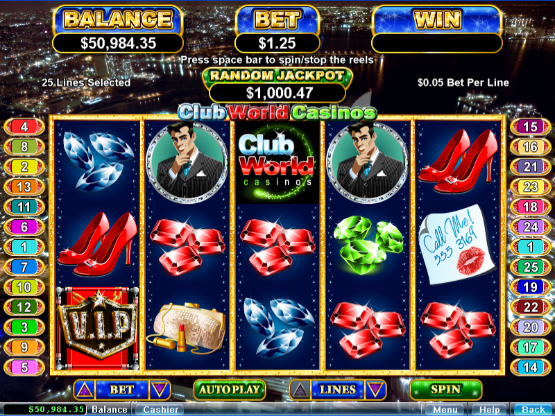 Club World Casino Bonus Code