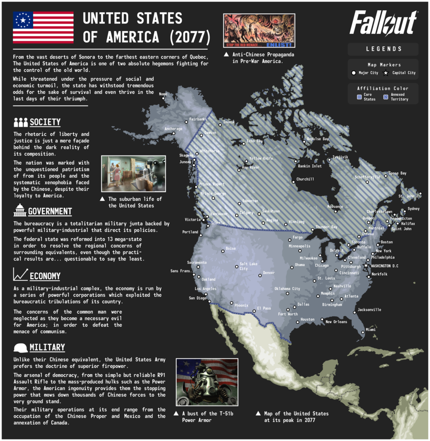 Fallout United State Of America 2077 By Shahabbas1571 Fallout Wallpaper Fallout Fallout Facts