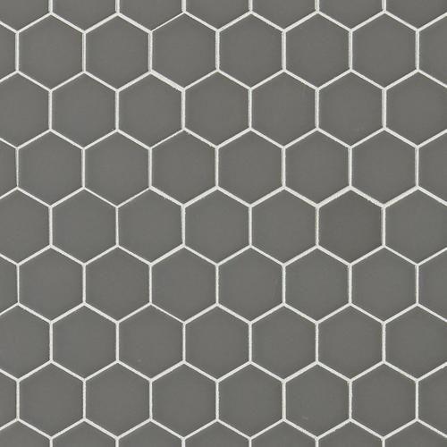 metro taupe matte hexagon porcelain