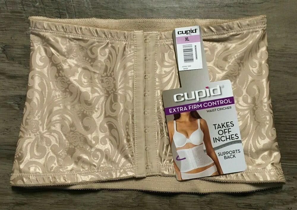 d9ca7608835 Cupid Waist Cincher Shapewear Extra Firm Control Beige Nude 5167 NWT Sz XL   Cupid
