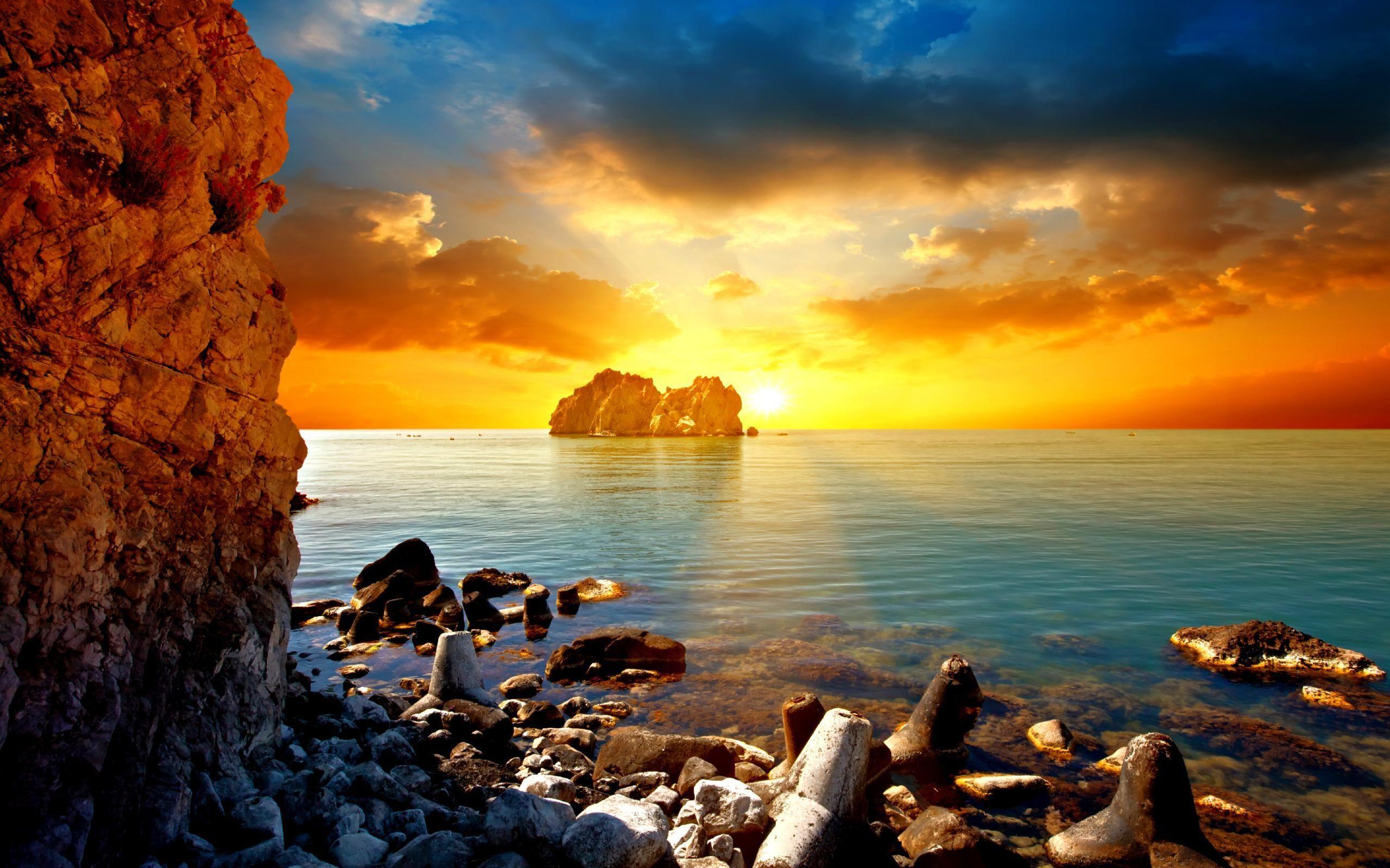 sky sea clouds sunset superb horizon sky background x hd beach rh pinterest com