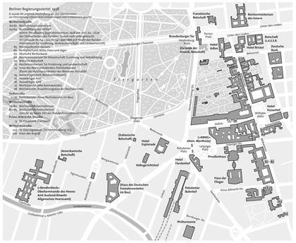 Unter Den Linden Wilhelmstrasse Voss Strasse Prinz Albrecht Strasse Tiergarten Berlin
