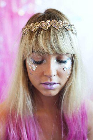 Multi-Colour Glitter Heart Hair Band, Glitter Hair Band, Glitter Headb – Beauxoxo- Handmade, Hair Accessories