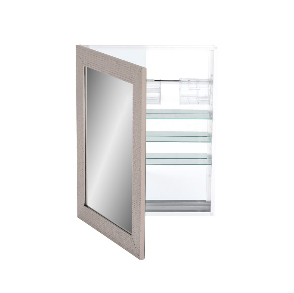Home Decorators Collection 24 In W X 30 In H Fog Free Framed Recessed Or Surface Mount Bathroom Medicine Cabinet In Brushed Nickel 45427 The Home Depot In 2020 Bathroom Medicine