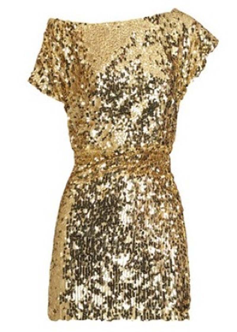 Sequin Gold Dress - Qi Dress