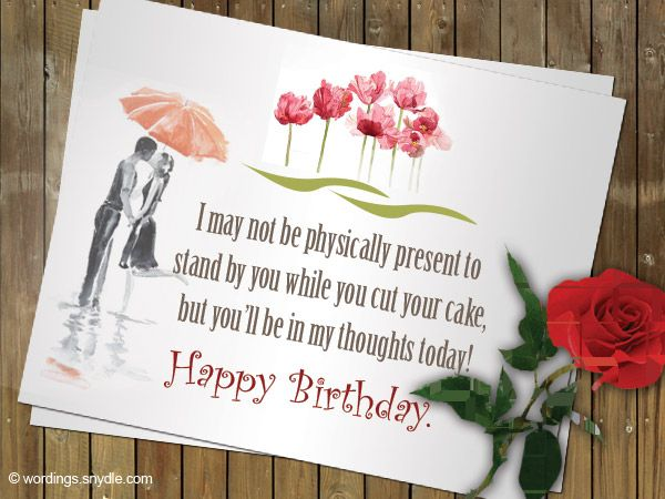 Romantic Birthday Wishes Messages for Him and Her Wordings and – Romantic Birthday Card Sayings