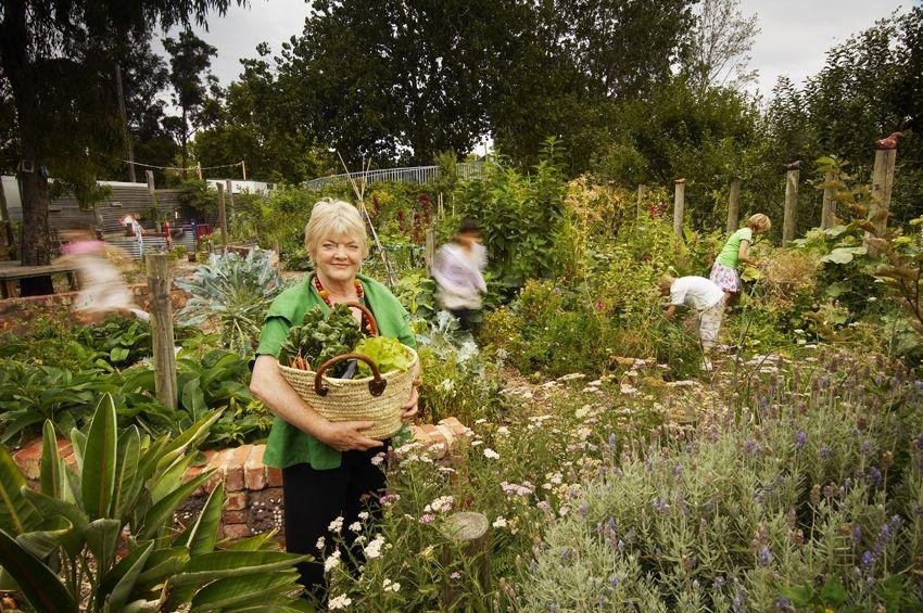 Stephanie Alexander In A School Kitchen Garden She Commented