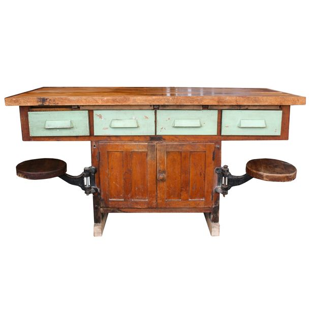 3 this for a kitchen table work bench with swivel seating green rh pinterest com